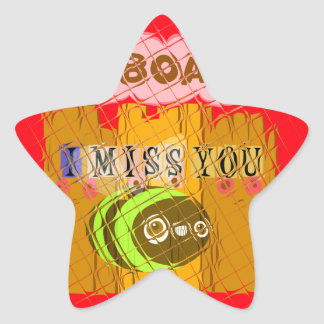 Cool Romantic Funny I Miss You I am Bored Star Sticker