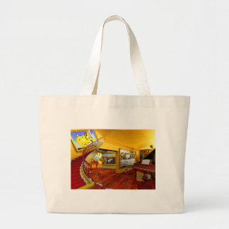 Cool Rooms by Lenny art Canvas Bags