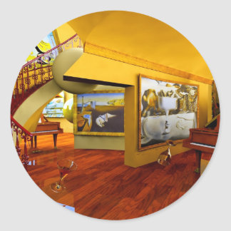 Cool Rooms by Lenny art Round Stickers