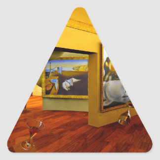 Cool Rooms by Lenny art Triangle Sticker
