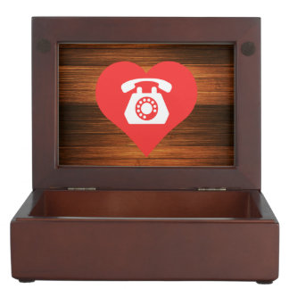 Cool Rotary Telephones Pictograph Memory Box