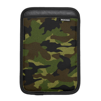 Cool Rough Green Camo Military iPad Mini Sleeves