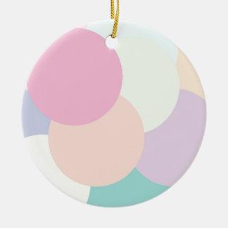 Cool Rounds Ceramic Ornament