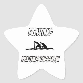 Cool ROWING designs Star Sticker