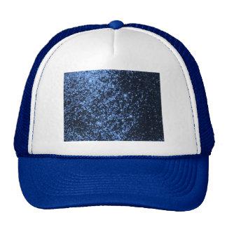 COOL ROYAL BLUE BLACK SPARKLE GLITTER BACKGROUND P TRUCKER HAT