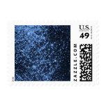 COOL ROYAL BLUE BLACK SPARKLE GLITTER BACKGROUND P POSTAGE