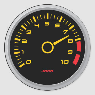 Cool RPM Gauge Sticker