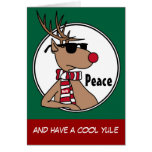 Cool Rudy the Reindeer with Shades Christmas Card