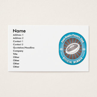 Cool Rugby Players Club Business Card