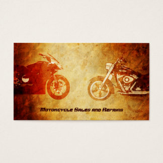 Cool Rugged Motorcycles Business Cards