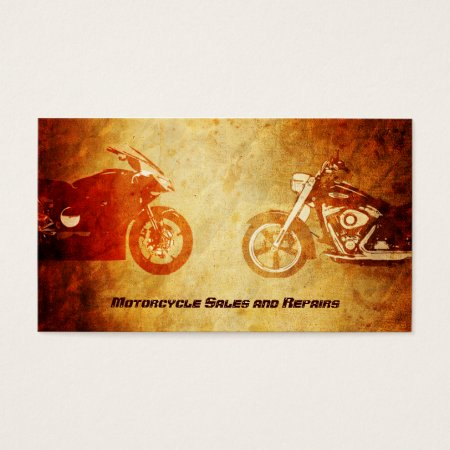 Cool Rugged Bike Motorcycle Repairs Business Cards