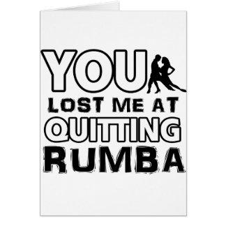 Cool Rumba dance designs Card