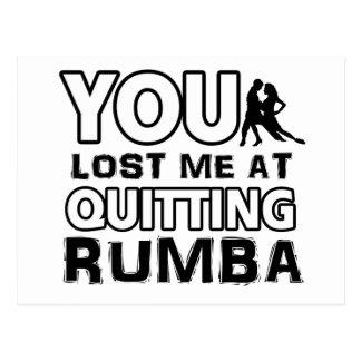 Cool Rumba dance designs Postcard