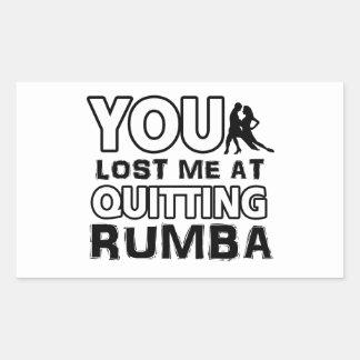 Cool Rumba dance designs Rectangular Sticker