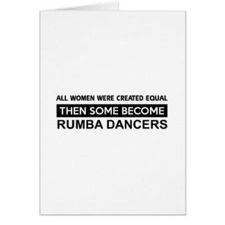 Cool Rumba dancer designs Card