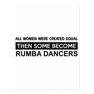 Cool Rumba dancer designs Postcard