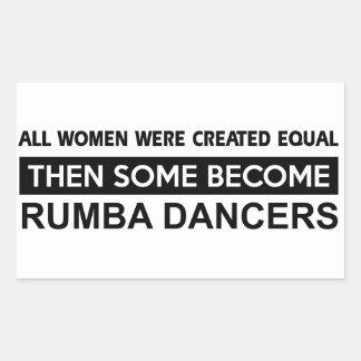 Cool Rumba dancer designs Rectangular Sticker