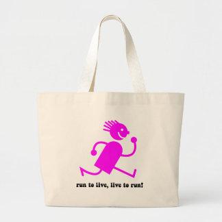Cool running large tote bag