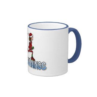 cool running woman mug