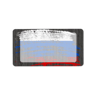 Cool Russian flag design Label