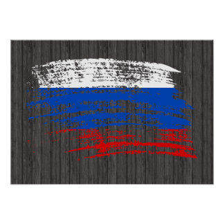Cool Russian flag design Poster