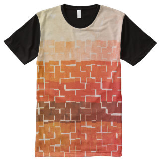 Cool Rustic Autumn Colors All-Over-Print T-Shirt