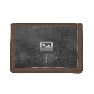 dreamywave Cool Rustic Black Leather Look Monogrammed Wallet
