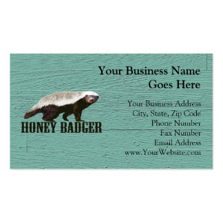 Cool Rustic Honey Badger Business Card Template
