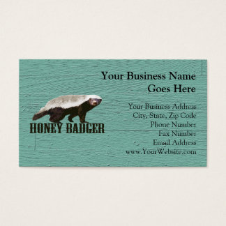 Cool Rustic Honey Badger Business Card