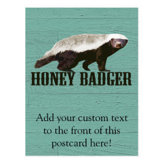 Cool Rustic Honey Badger Postcard