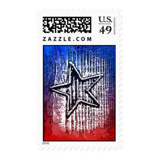 Cool Rustic Lone Star Pop Art Print Stamp