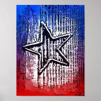 Cool Rustic Lone Star Pop Art Print