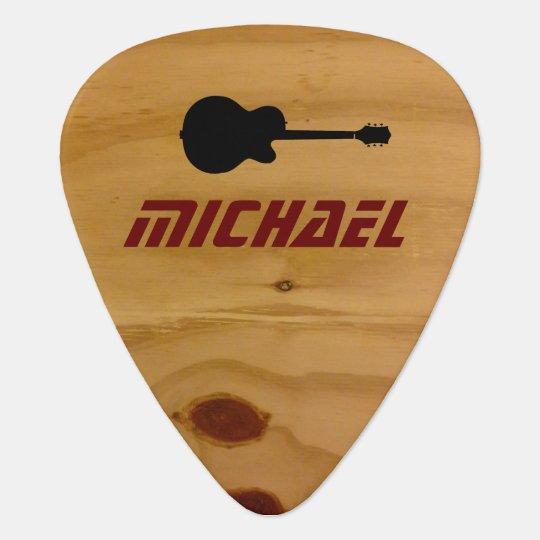 cool rustic wood guitar picks with name. Black Bedroom Furniture Sets. Home Design Ideas