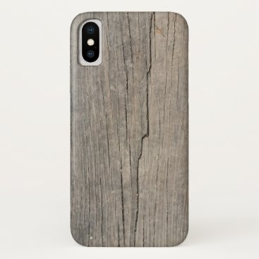 Beach Themed Cool Rustic Wood Texture iPhone X Case