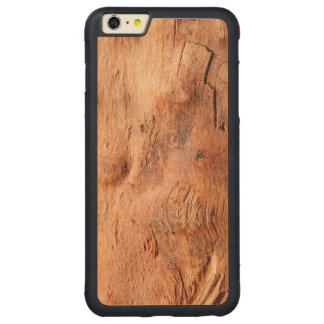 Cool Rustic Wood Texture Look - Manly Pattern Carved Maple iPhone 6 Plus Bumper Case