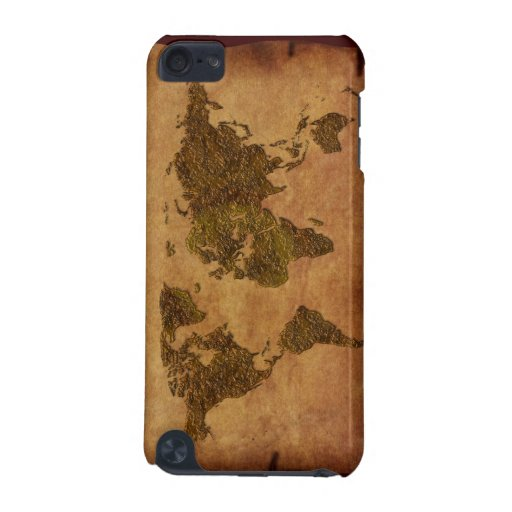 Cool Rustic World Map iPod Touch Cases
