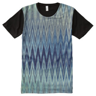 COOL Rustic Zigzag Wavy Pattern All-Over-Print T-Shirt