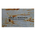 Cool Rusty Grunge Generic Business Card Template Business Cards