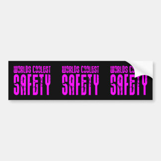 Cool Safeties + Pink : Worlds Coolest Safety Bumper Stickers