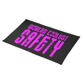 Cool Safeties + Pink : Worlds Coolest Safety Cloth Placemat