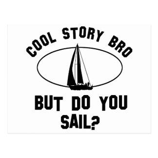 cool sail designs postcard