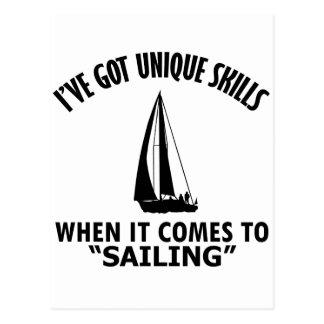 cool sailing DESIGNS Postcard