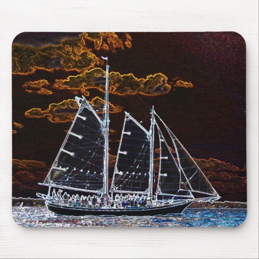 Cool sailing ship abstract photography mousepad