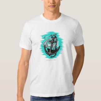 Cool sailing ship and anchor graphic t-shirt