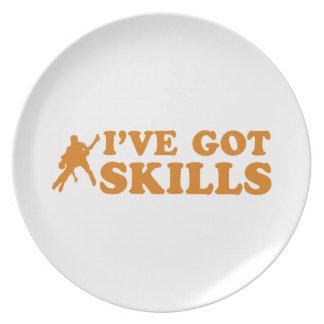 Cool salsa skills designs plate