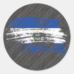 Cool Salvadoran flag design Classic Round Sticker