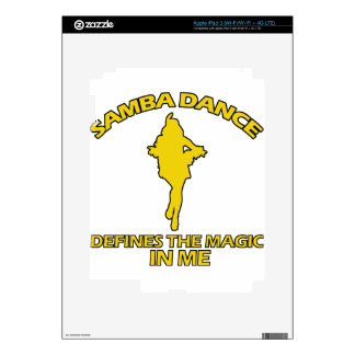 cool samba dance designs decal for iPad 3