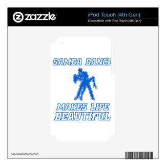 Cool SAMBA dance designs Decals For iPod Touch 4G