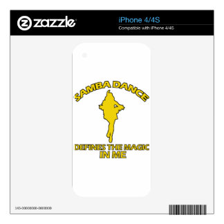 cool samba dance designs iPhone 4S skins