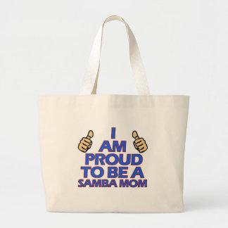 cool samba mom designs large tote bag